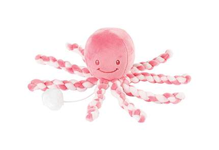 Игрушка мягкая Nattou Musical Soft toy Lapidou Octopus pink coral – light pink
