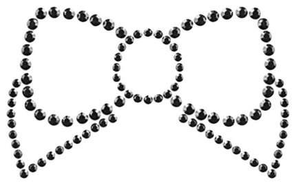 Украшение на грудь Bijoux Mimi Bow Black