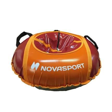 Тюбинг NovaSport 125 см усиленный тент с камерой СН051.125.3.1 оранжевый красный
