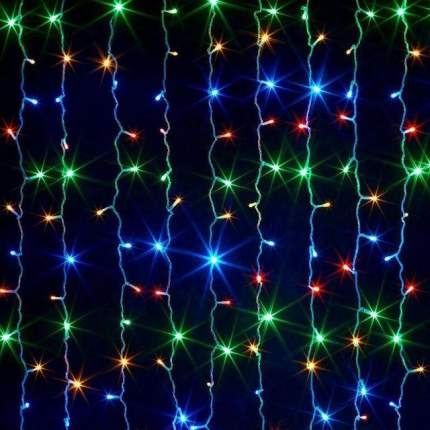 Светодиодная гирлянда-штора LED 200 лампочек, 5 режимов, 2 м (разноцветная)