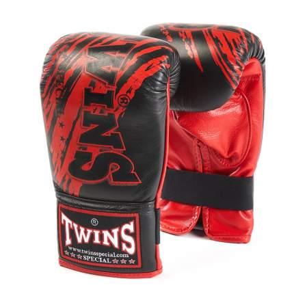 Боксерские перчатки снарядные Twins FTBGL1F-TW2 FANCY TRAINING BAG GLOVES черно-красные
