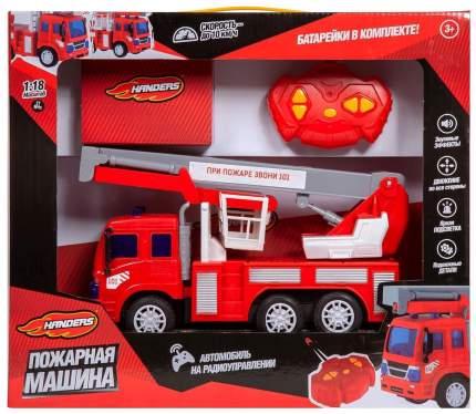 Радиоуправляемая пожарная машина Handers Автовышка со световыми и звуковыми эффектами 26см