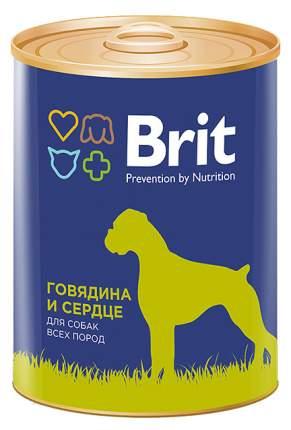 Консервы для собак Brit, говядина с сердцем, 850г