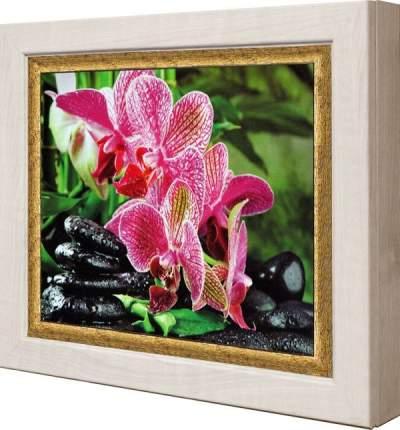 "Ключница ""Ветка розовой орхидеи"" Клен"