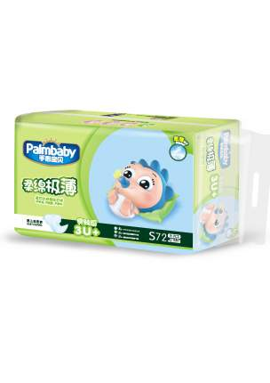 Подгузники детские Palmbaby Ультратонкие - S 3-7 кг, 72 шт.