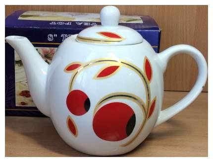 Чайник заварочный Коралл 1332 Красные ягоды Белый; красный