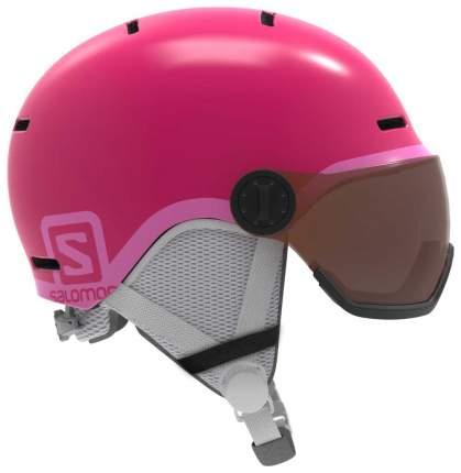 Горнолыжный шлем детский Salomon Grom Visor 2019, розовый, M