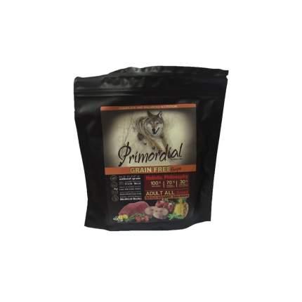 Сухой корм для собак Primordial Grain Free Adult All, буйвол, скумбрия, 0.4кг