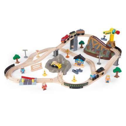 Железная дорога KidKraft деревянный игровой набор Горная стройка в контейнере
