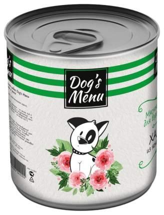 Консервы для собак Dog`s Menu, хаггис из ягненка и риса, 750 г