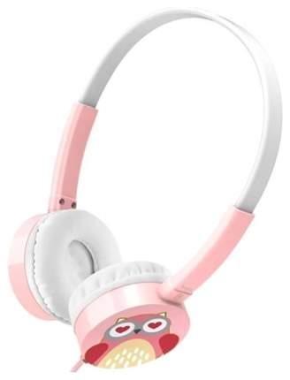 Наушники Hoco W15 Meow Совенок White/Pink