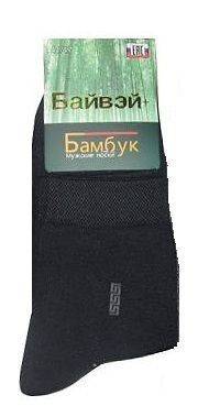 Носки мужские бамбуковые темно-синие, размер 41-47