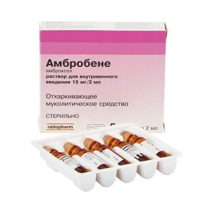 Амбробене раствор 15 мг/2 мл 2 мл 5 шт.