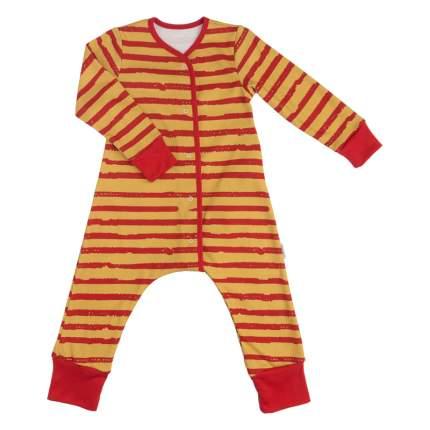 Пижама на кнопках Bambinizon Бордовая полоска р.98