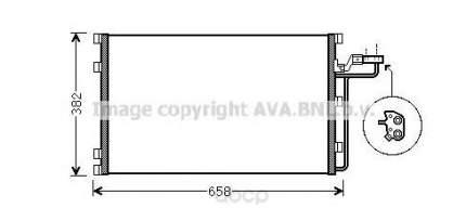 Pадиатор кондиционерa Volvo S40, V50 04 Ava VOA5150
