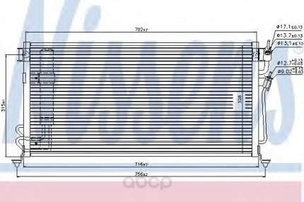 Радиатор охлаждения двигателя Nissens 94748
