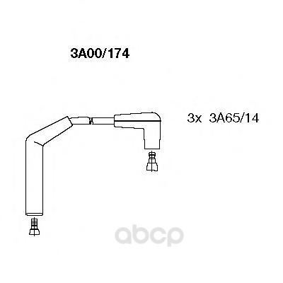 Провод высоковольтный daewoo matiz 0.8 01/02- BREMI 3a00/174