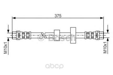 Шланг тормозной системы Bosch 1987476698 передний