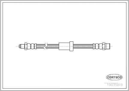 Шланг тормозной системы CORTECO 19035819