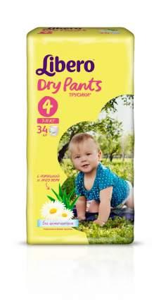 Подгузники-трусики Libero Dry Pants Size 4 (7-11кг), 34 шт.