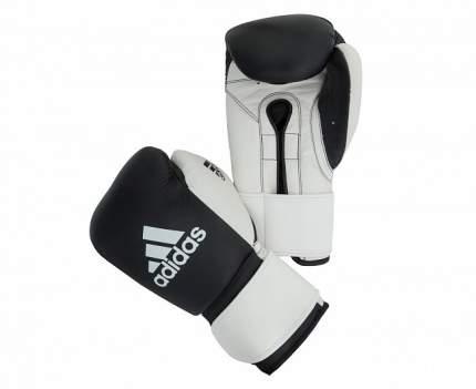 Боксерские перчатки Adidas Glory Strap Professional черно-белые 10 унций