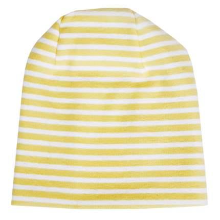 Шапка детская Папитто с начесом желт. полоска р.48 49-031