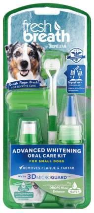 Отбеливающий набор Tropiclean Свежее дыхание уход за зубами для собак мелких пород