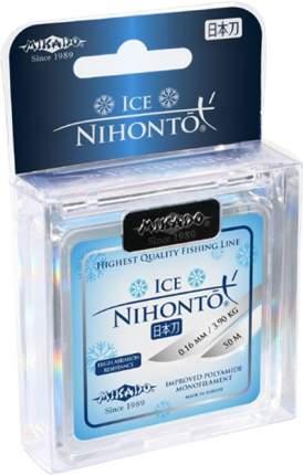 Леска монофильная Mikado Nihonto Ice 0,16 50 м, 3,9 кг