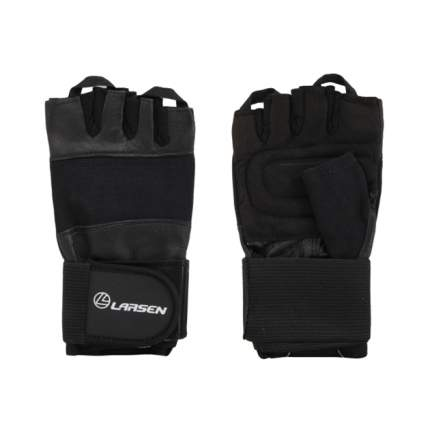 Перчатки для фитнеса Larsen 16-8343, черные, M