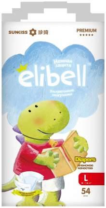 Подгузники Elibell Premium L, 9-14 кг 54 шт