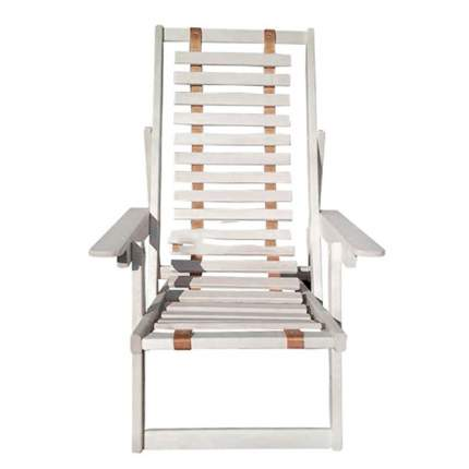 Кресло-шезлонг на ленте с подлокотниками Лесодар, 1700х790х90мм