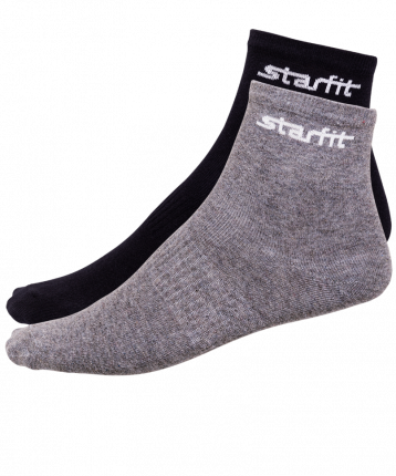 Носки StarFit SW-206, серый меланж/черные, 43-46 EU