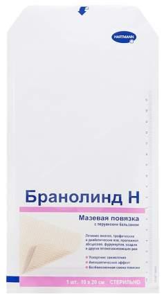 Повязка Branolind N с перуанским бальзамом с антисептическим, заживляющий 10х20 см 1 шт.