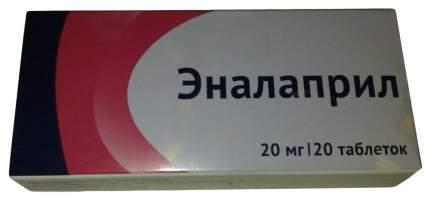 Эналаприл таблетки 20 мг 20 шт.