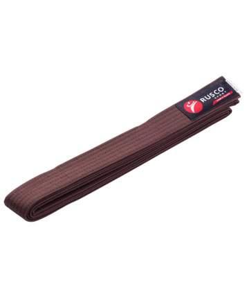 Пояс для единоборств Rusco Sport, 280 см, коричневый