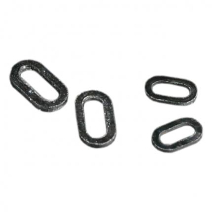 Заводное кольцо Mikado овальное 4,5 мм