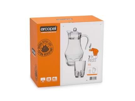 Набор стаканов и кувшин Arcopal Рок 7 предметов