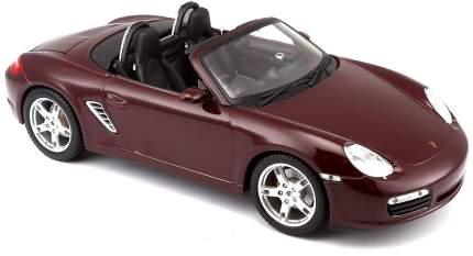 Машинка Maisto 1:18 Porsche Boxster S 2005 года, бордовая
