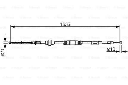 Трос cтояночного тормоза BOSCH 1987482533