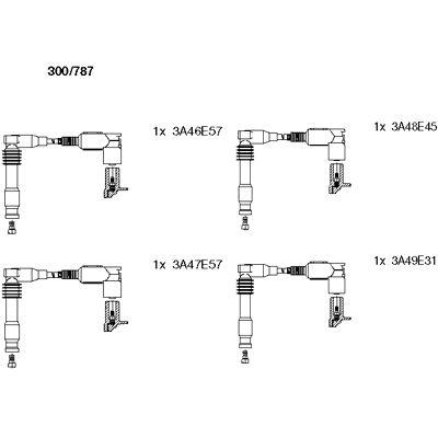 Комплект проводов зажигания BREMI 300/787