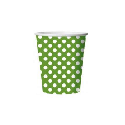 Стакан картонный Bulgaree Green зеленый горох 0.25 л 10 шт