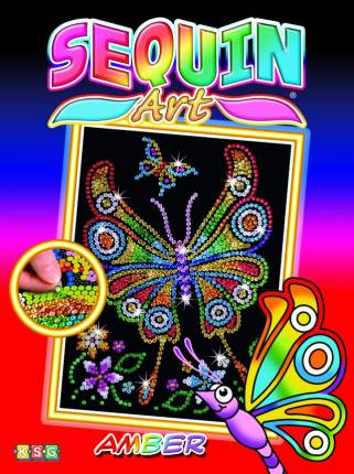 Мозаика из пайеток KSG Sequin Art Бабочка юниор