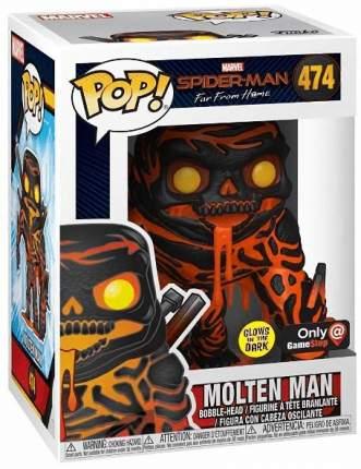 Фигурка-головотряс Funko POP! Bobble Marvel: Spiderman: Molten Man Glows in the Dark Exc