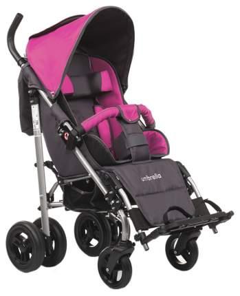 Кресло-коляска Meyra Umbrella new для детей ДЦП розовый-серый цельнолитые