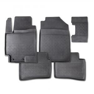 Резиновые коврики SEINTEX с высоким бортом для Chevrolet Lanos 2005-2009 / 01474