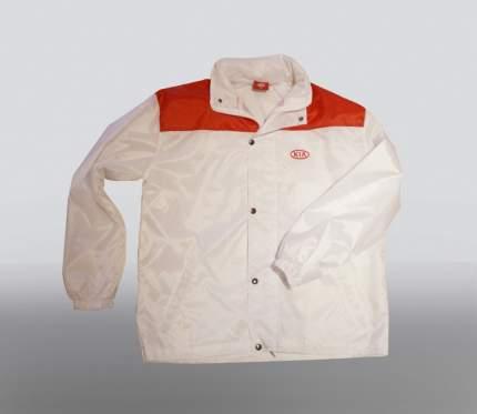 Рубашка с коротким рукавом Hyundai-Kia KSOUN01004M белая хлопчатобумажная 100% размер м