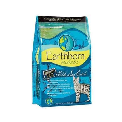 Сухой корм для кошек и котят Earthborn Holistic Wild Sea Catch, беззерновой, рыба, 2,7кг
