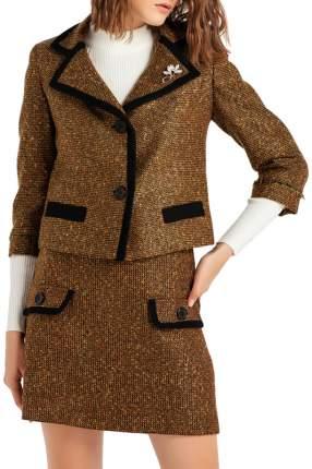 Пиджак женский BGN коричневый 36-S