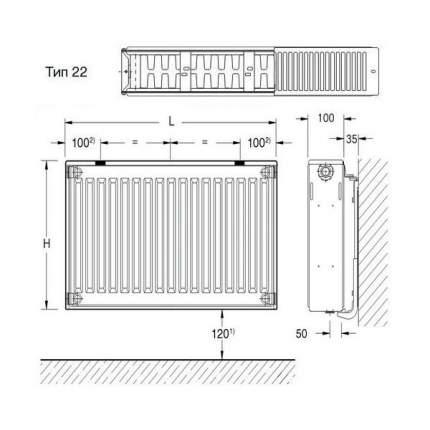 Радиатор стальной Buderus K-Profil 22/500/500 36 A