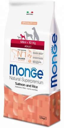 Сухой корм для собак Monge Speciality Mini, для мелких пород, лосось и рис, 7,5кг
